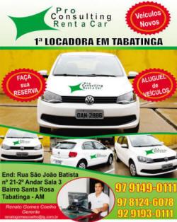 Foto de Tabatinga recebe sua 1ª locadora de veículos: Pro Consulting Rent a Car