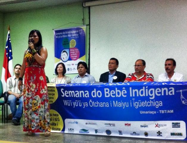 Foto de Unicef promove em Tabatinga I Semana do Bebê Indígena