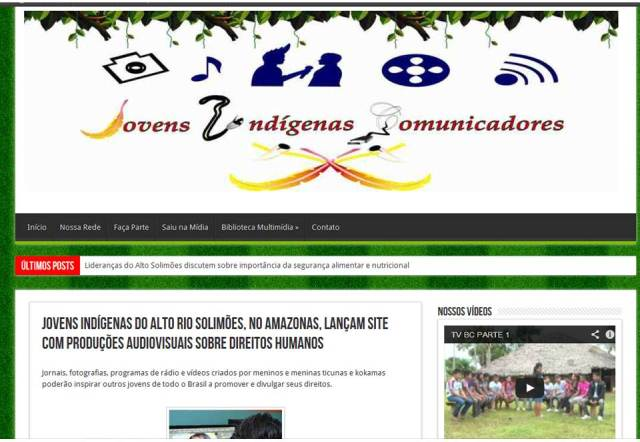 Home Page do site