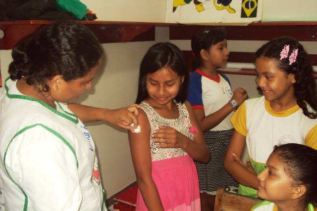 Foto de Começou hoje em Tabatinga a 2ª Etapa da Campanha Nacional de vacinação contra o HPV 2014
