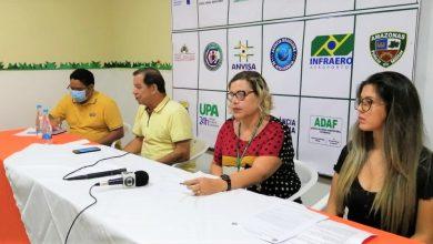 Foto de Secretaria de Saúde faz coletiva de imprensa sobre a situação do primeiro caso de COVID-19 no município