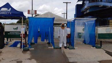 Foto de Cabines de desinfecção são instaladas na fronteira entre Colômbia e Brasil