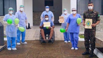Foto de Mais um paciente recebe alta do HGut recuperado do Covid-19